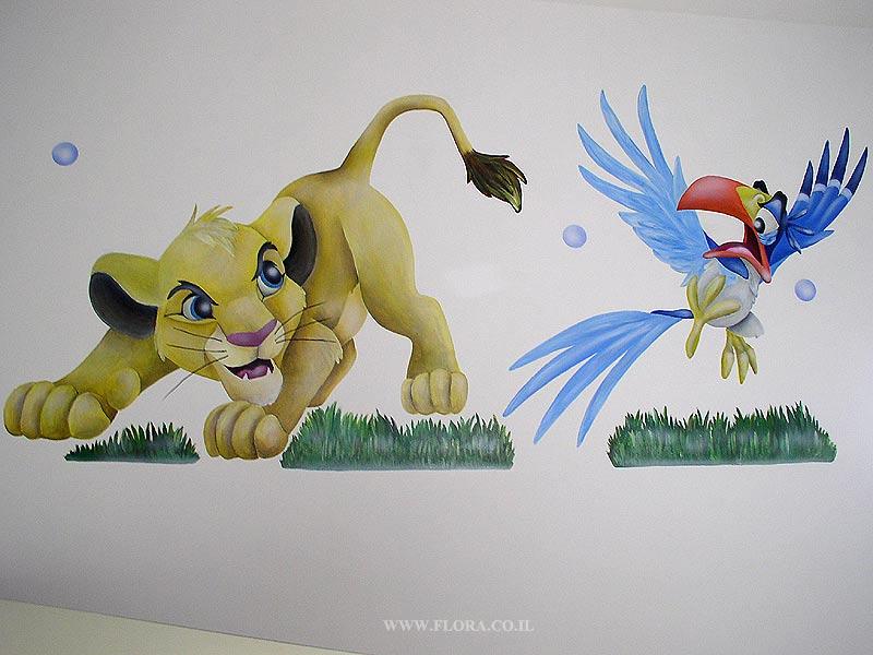 Роспись стен в детских комнатах ашдод