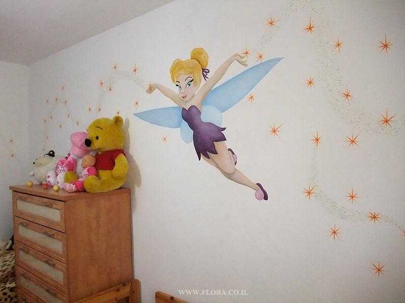 Оформление стены в детской спальне своими руками 87